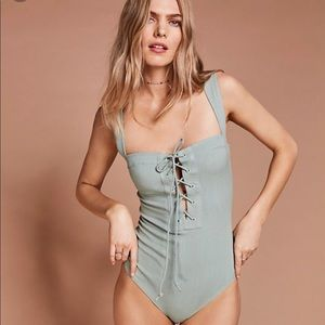 Free people philo green bodysuit